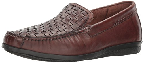 Dockers Men's Ferndale Slip-on Loafer, Cognac, 12 M US Brown Woven Leather Loafer