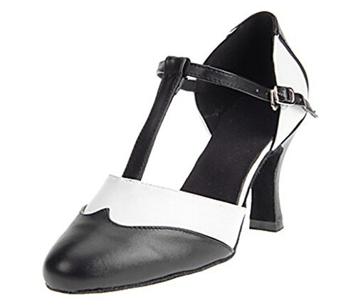 Latin Strappy Kevin Black Dance Simple Travis Women's Ballroom Shoes Fashion Shoes Leather qqA46O