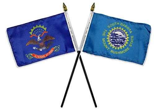 State North & South Dakota Flags 4