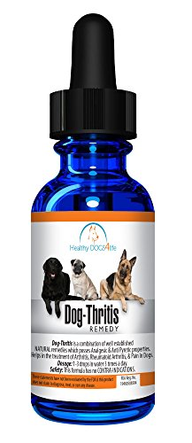 Healthy Dogs 4-Life's Dog-thritis, [30]ml, All Natural Homeopathic Dog Joint Formula, Helps Treat Symptoms of Arthritis for Energy and Vitality