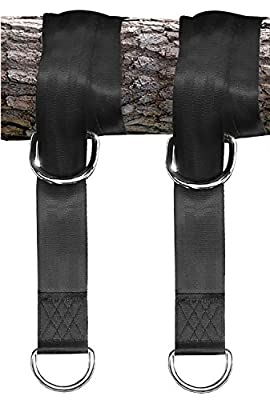 Tree Swing Hanging Kit Holds 1300 lbs INCLUDES 2 Straps & 2 Snap Carabiner Hooks for Swings and Hammocks