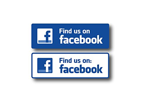 6  Find Us On Facebook Decal Find Us On Facebook Sticker For Wall Car Business Storefront
