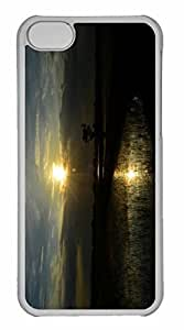 iPhone 5C Case, Personalized Custom Sunset Reflects On Rice Land for iPhone 5C PC Clear Case