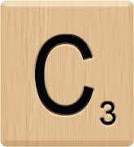 Scrabble Letter C Tiles, (10) Beautiful Scrabble Letter C Tiles, A to Z IN Stock