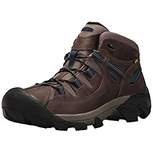 KEEN Men's Targhee II Mid WP-M Hiking Boot, Bungee Cord/Legion Blue, 9 M US