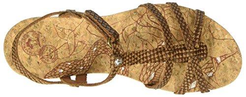 Panama Jack Dori Snake, Sandalias con Cuña para Mujer Marrón (Bark)