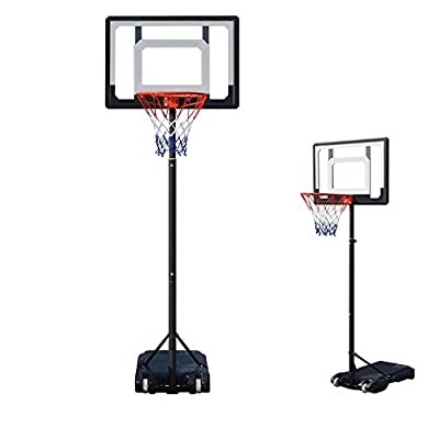 [US STOCK] ETUOJI Pro Court Adjustable Mini Portable Basketball Hoop System for Youth, Height Adjustable, 2.1m Height, 8ft.- 11ft Hoop Backboard Rim System