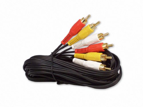 Your Cable Store 12 Foot RCA Audio/Video Cable 3 Male To 3 Male