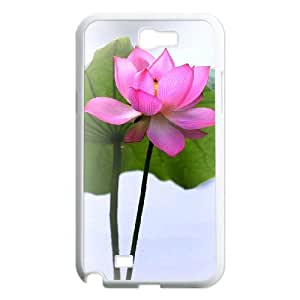 Beautiful lotus Unique Design Cover Case with Hard Shell Protection for Samsung Galaxy Note 2 N7100 Case lxa#892506