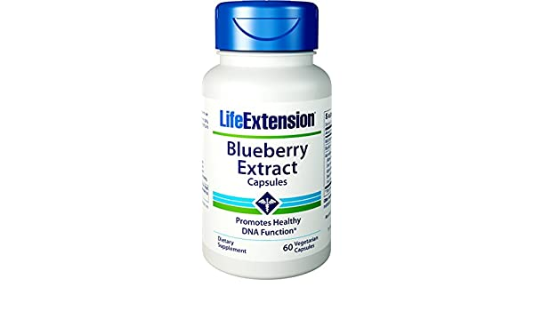 Blueberry Extract, 60 vegetarian capsules by Life Extension: Amazon.es: Salud y cuidado personal