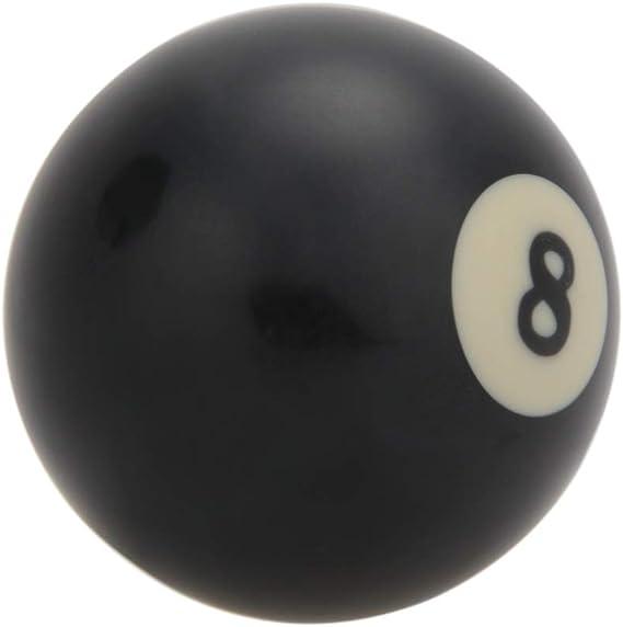 Reemplazo de Bola de Billar Negro Bola 8 Billar Bola Ocho Negra tamaño estándar 2 1/4 Bola de Entrenamiento de Billar Billar s9f0a34f: Amazon.es: Deportes y aire libre
