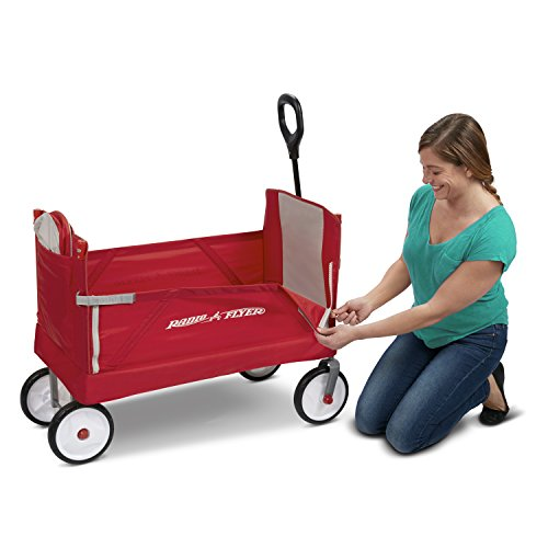 41jnNs7u%2BWL - Radio Flyer 3-In-1 EZ Folding Wagon with Canopy for kids and cargo