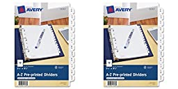 Avery Mini Preprinted Dividers with A-Z Tabs, 5.5 x 8.5-Inches, 12-Tab Set (11313), 2 Packs