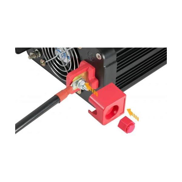41jnO8H1d L Technaxx KFZ Wechselrichter mit LC-Display 12V auf 230V - Auto Inverter mit 2X Schuko-Stecker und 2X USB-Port - Power…