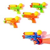 dazzling toys Water Shooter Guns | Durable Double Barreled Water Shooters | Assorted Colors | 12 Shooters Per Pack