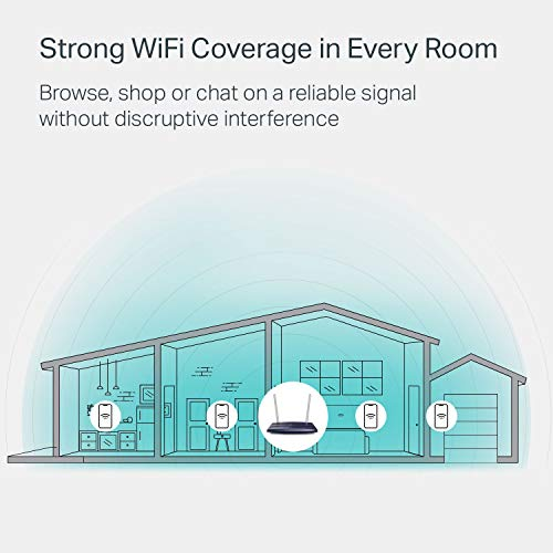 TP-Link AC1200 WiFi Router (Archer A5) - Dual Band Wireless Internet Router, 4 x 10/100 Mbps Fast Ethernet Ports, Supports Guest WiFi, Access Point Mode, IPv6 and Parental Controls