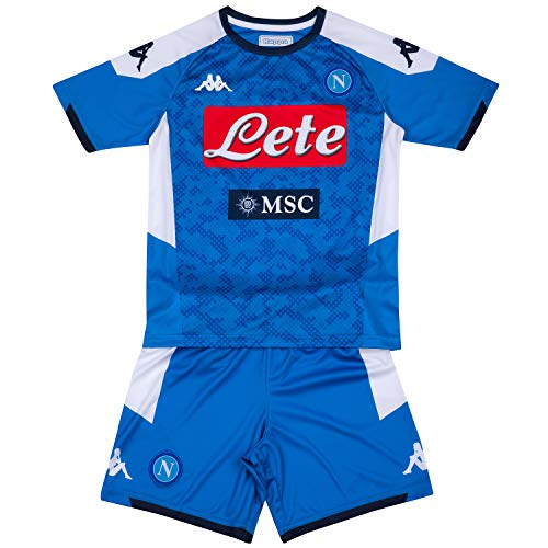 Napoli Blue Shirt - Ssc Napoli Italian Serie A Junior Home Match Kit, SkyBlue, 8 Years