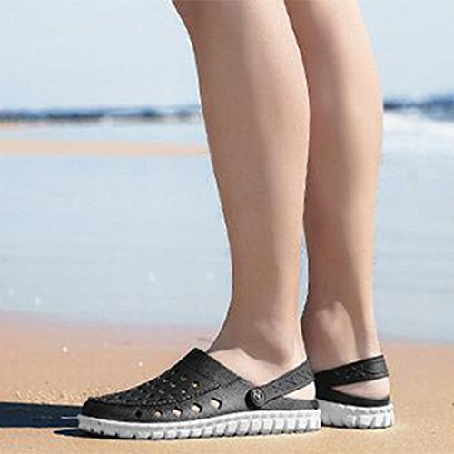 Uomo Slippers Outdoor Black Shoes ZHONGST Sandali Estivi Cave Casual Beach da tSSTZwq