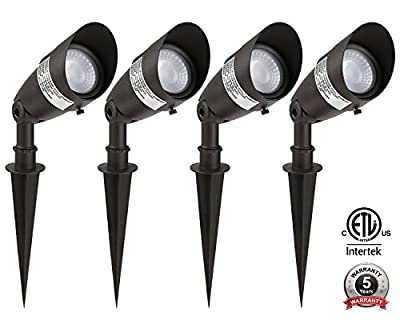 1-PACK/4-PACK 4W/8W Landscape Light 12V AC/DC, 50,000hrs Extra Long Lifespan,40 Degree Beam Angel,3000K Warm White/4000K Cool White