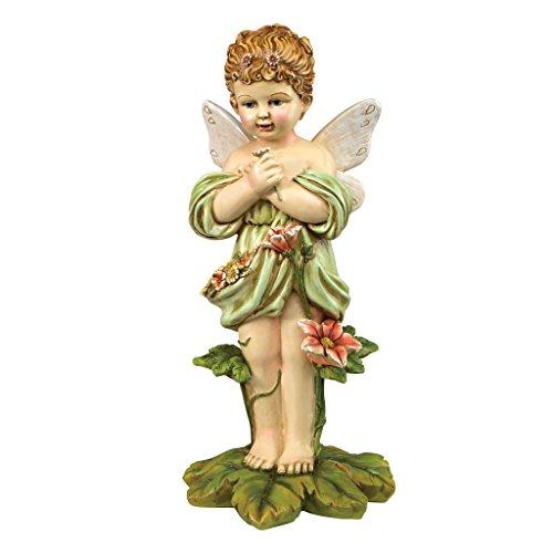Design Toscano Gertie, the English Flower Fairy Statue (English Patio Garden Stone)