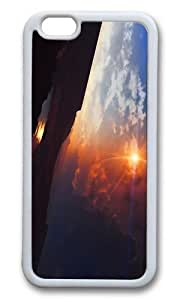 MOKSHOP Adorable landscape planet art Soft Case Protective Shell Cell Phone Cover For Apple Iphone 6 Plus (5.5 Inch) - TPU White