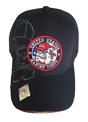 Unisex Dog Baseball Cap (Aesthetinc U.S. Military Marines Officially Licensed Cap Hat (USMC Bulldog))