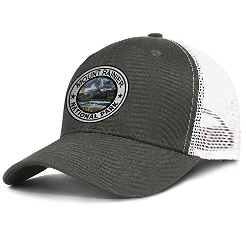 Mount Rainier National Park Baseball Hats Retro Cotton Adjustable Mesh Brim Cap Unisex