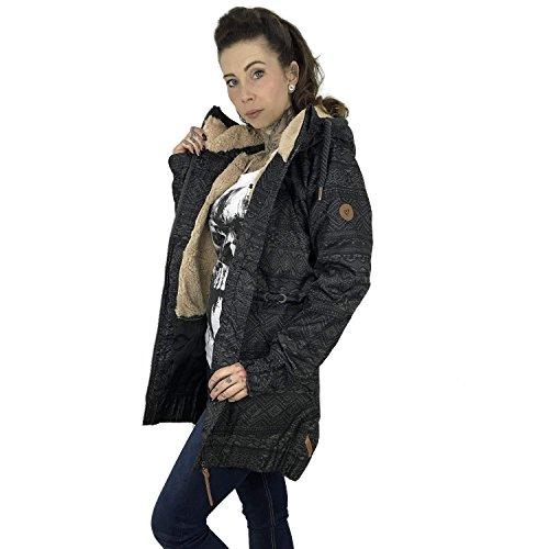 amp; Grigio cappotto Donna Giacche Charlotte Alife Kickin OndHwqOP