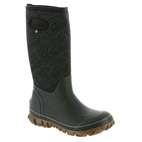 BOGS Women's Whiteout Fleck Waterproof Winter Boot Black 9 M US (Winter Bogs Boots Women)