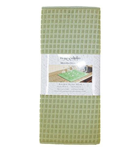 J&M Home Fashions Microfiber Check Dish Drying Mat, 15x20, A