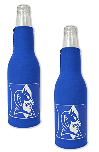 Duke Beer - Official National Collegiate Athletic Association Fan Shop Authentic NCAA 2-pack Insulated Bottle Cooler. Show Team Pride At Home, Tailgating or At the Game (Duke Blue Devils)