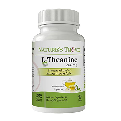 L-Theanine 200mg Super Value Size - 365 Vegetarian Capsules