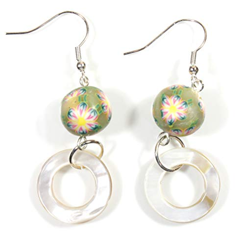 l Ring and Polymer Clay Boho Bead Earrings ()