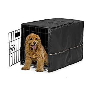 MidWest Black Polyester Crate Cover for 30 Inch wire crates, 30 Inches by 19 Inches by 21 Inches