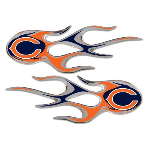 NFL Chicago Bears Micro Flame Graphics Decal