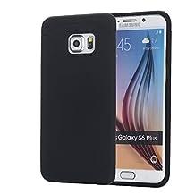 Galaxy S6 Edge+ Case, S6 Edge Plus Case, Pandawell™ Slim Thin Dual Layer Hybrid Shockproof Silicone Case Cover for Samsung Galaxy S6 Edge Plus (Black)