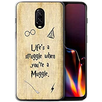 STUFF4 Gel TPU Phone Case/Cover for OnePlus 6T / Lifes a Struggle Design/School of Magic Film Quotes Collection