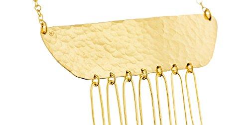 Eloïse Fiorentino Collier plastron Vestiges, dorure à l'or fin