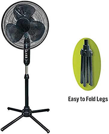 3 Speed White HowPlumb Oscillating Pedestal Stand Fan Quiet Adjustable 16-in