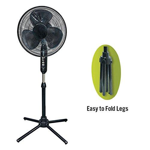 Oscillating Stand Fan Speed, Black