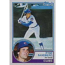 Ryne Sandberg 1983 Topps Near Mint to Mint Rookie Card #83 Shipped in Protective Screw Down (Ryne Sandberg Card)