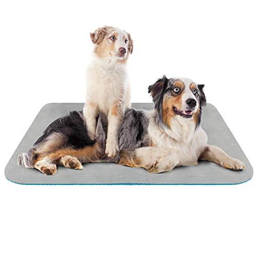 Hero Dog Large Dog Bed Crate Pad Mat 47 Inch Washable Matteress Anti Slip Cushion for Pets Sleeping Grey XL