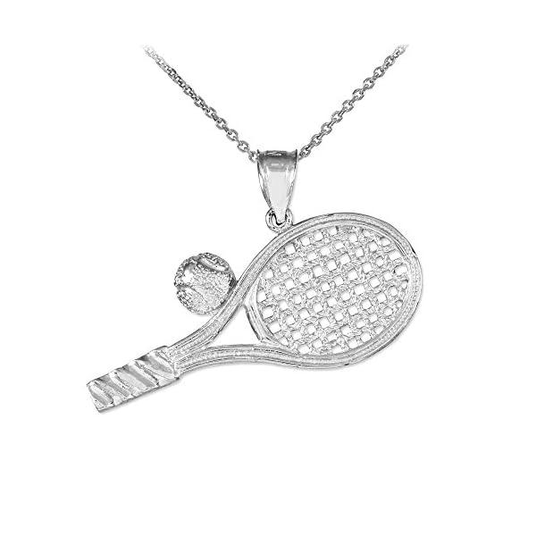 שרשרת תליון טניס אופנתית מכסף סטרלינג רק באתר tennisnet !