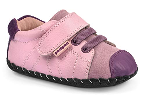 pediped Originals Jake Casual Sneaker (Infant), Pink, Small (6-12 Months)