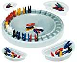 CULTURE CLUB – Domino Game Teaching Material Circular Tray 28 cm 28 mini-pinces 4 cm 4 bacs-adapte 4 Children Assorted 10988, 3 Years
