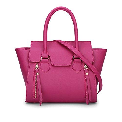 Mujer Shoppers y bolsos de hombro Bolsos bandolera Carteras de mano y clutches Rosa Roja