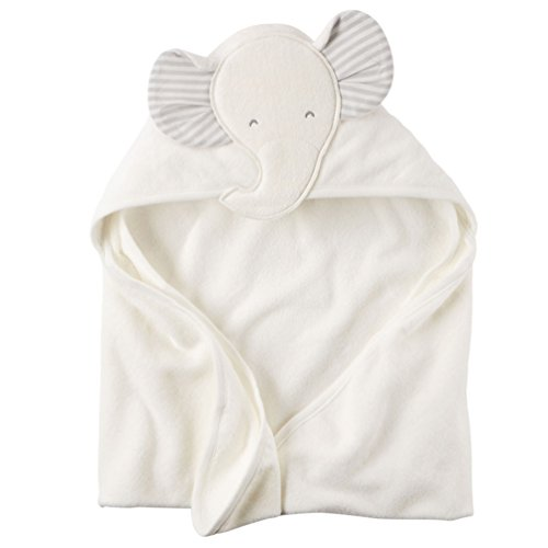 [Baby Cotton Animal Costumes Hooded Blankets Infant Terry Bath Towel Care Clothing (white)] (Homemade Monkey Costumes For Babies)