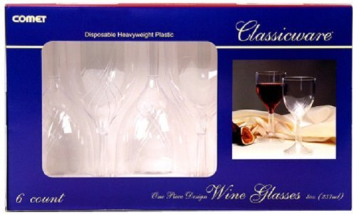 Classicware RCWSWN6 1 Piece Shrink Wrapped Wine Glass, 8-Ounce Capacity, Clear (Case of 72) - 770 Glasses