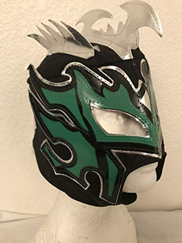 Kalisto lucha dragons kids mask Black w/green Pentágon jr sin cara mil LUCHA ()