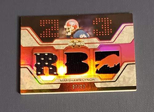 - Football NFL 2008 Topps Triple Threads Relic Red #TTR96 Marshawn Lynch NM Near Mint Jersey 7/17 Bills